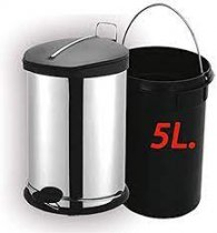 5L CHROME BULLET TRASH BIN 30CM K6