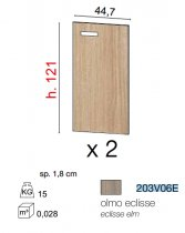 GALILEO SET OF DOORS *2 FOR CAB 121cm ECLIPSE ELM 203V06E