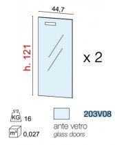 GALILEO GLASS DOORS *2 FOR CABINET 203V08