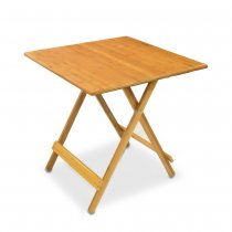 FOLDING TABLE BAMBOO 69x68cm