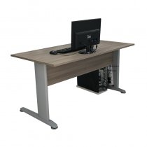 GALILEO DESK 120cm METAL LEGS ECLIPSE ELM 203S01E