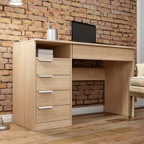 ENJOY DESK WITH 5 DRAWER OAK 96S03Q