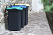 RECYLING COLOR CODED BIN 30L YELL/GRN 14720