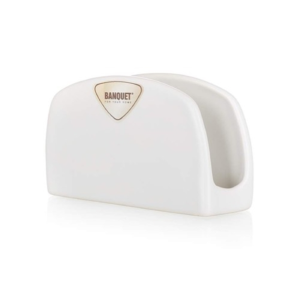 CERAMIC NAPKIN HOLDER AMANDE WHT 203125010 K12