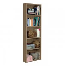 ECO BOOKCASE 5 SHELF 96L01P NOCE PURO