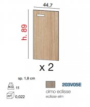 GALILEO DOORS *2 FOR CAB 89cm ECLIPSE ELM 203V05E